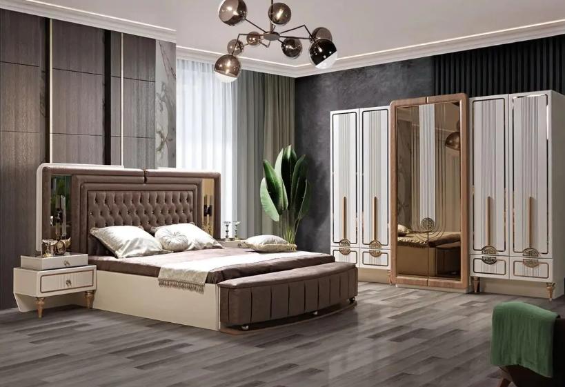Avangard yatak odası dekorasyonu